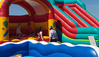 inflatable castles weddinghire